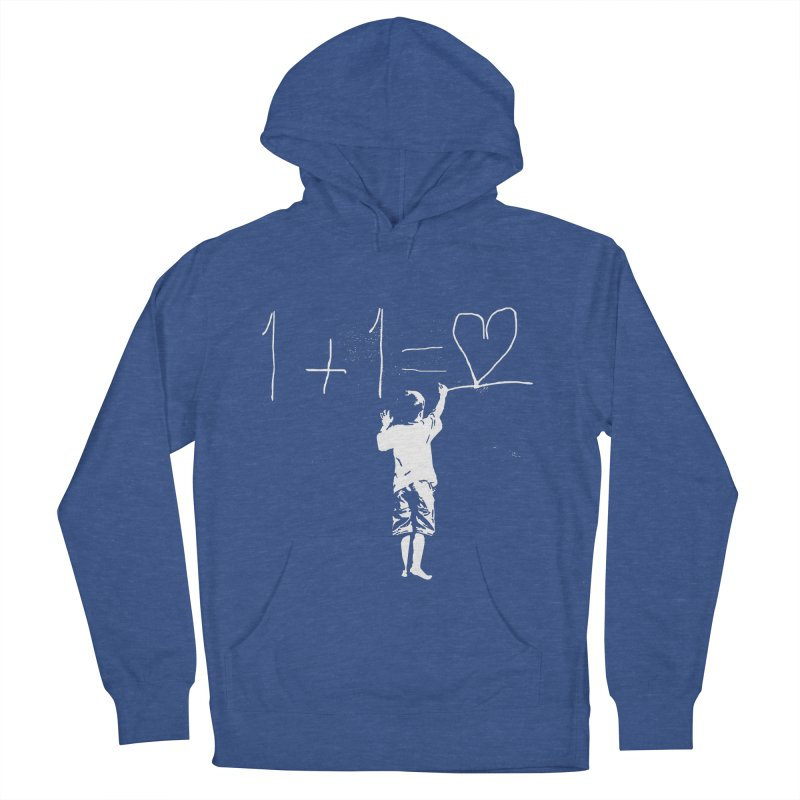 One Plus One Equals Love Men's French Terry Pullover Hoody by Artrocity's Artist Shop