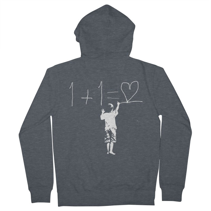 One Plus One Equals Love Men's Zip-Up Hoody by Artrocity's Artist Shop