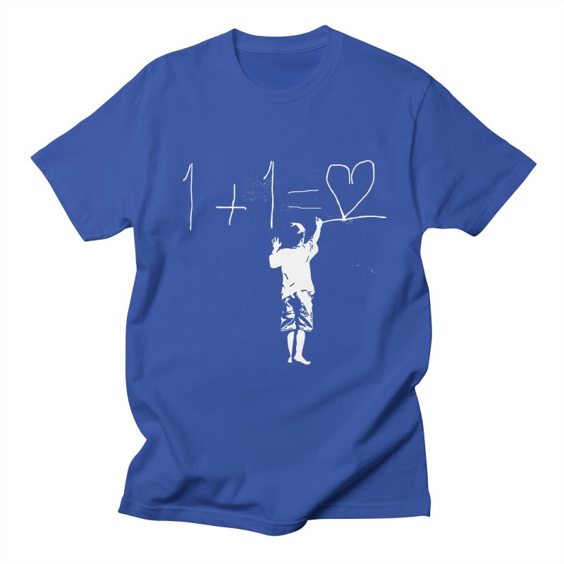 One Plus One Equals Love Men's T-Shirt by Artrocity's Artist Shop
