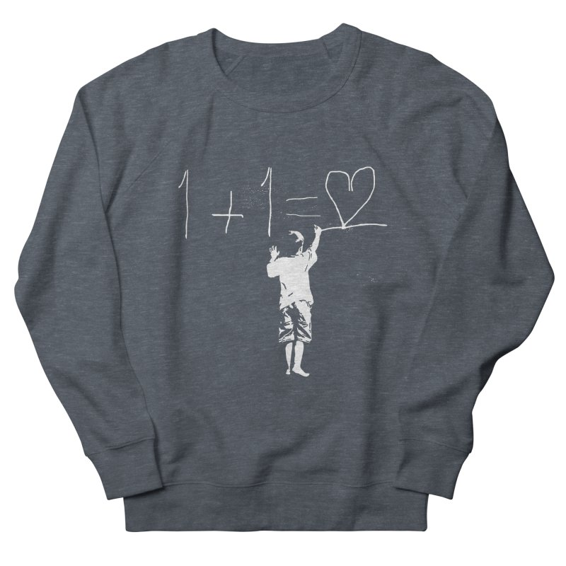 One Plus One Equals Love Men's Sweatshirt by Artrocity's Artist Shop