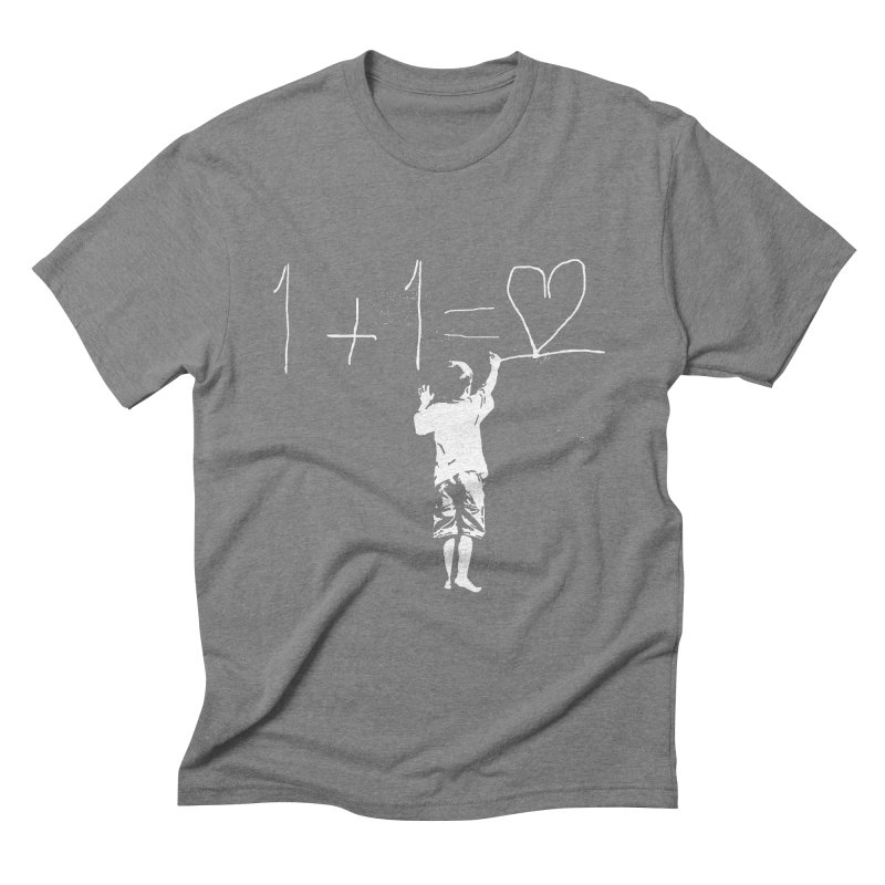 One Plus One Equals Love Men's Triblend T-Shirt by Artrocity's Artist Shop