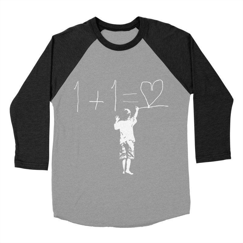 One Plus One Equals Love Men's Baseball Triblend Longsleeve T-Shirt by Artrocity's Artist Shop