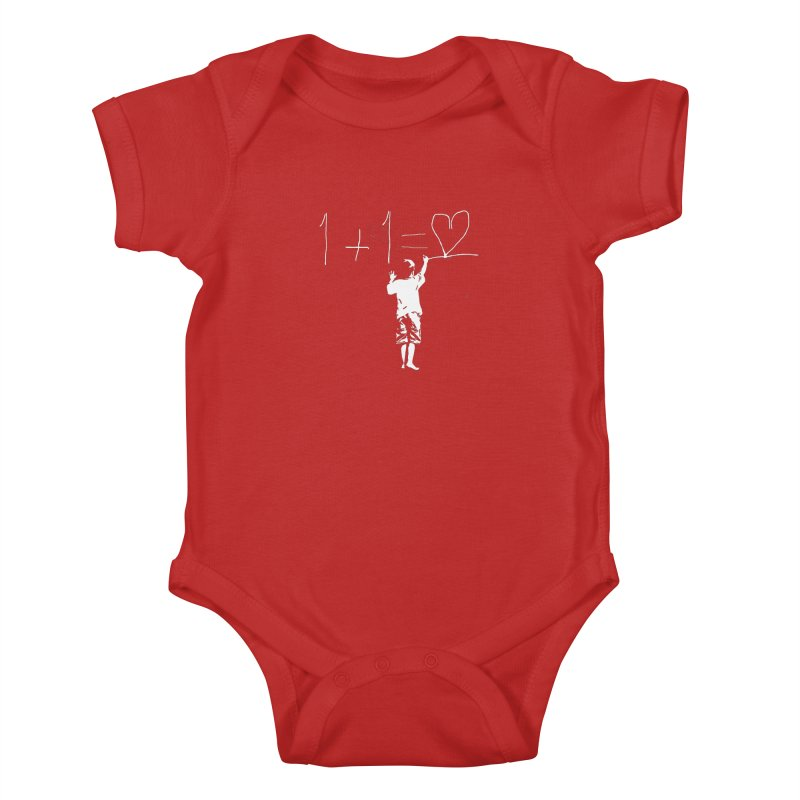 One Plus One Equals Love Kids Baby Bodysuit by Artrocity's Artist Shop