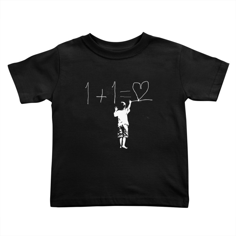 One Plus One Equals Love Kids Toddler T-Shirt by Artrocity's Artist Shop