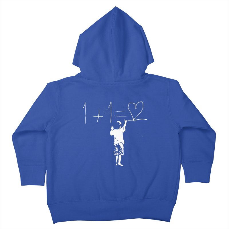 One Plus One Equals Love Kids Toddler Zip-Up Hoody by Artrocity's Artist Shop