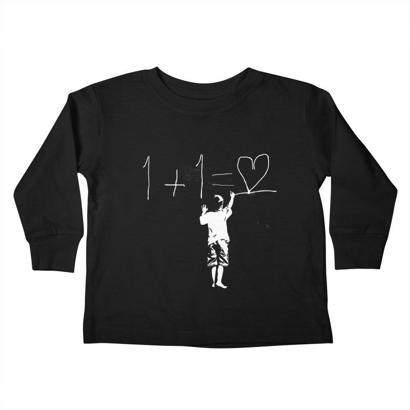 One Plus One Equals Love Kids Toddler Longsleeve T-Shirt by Artrocity's Artist Shop