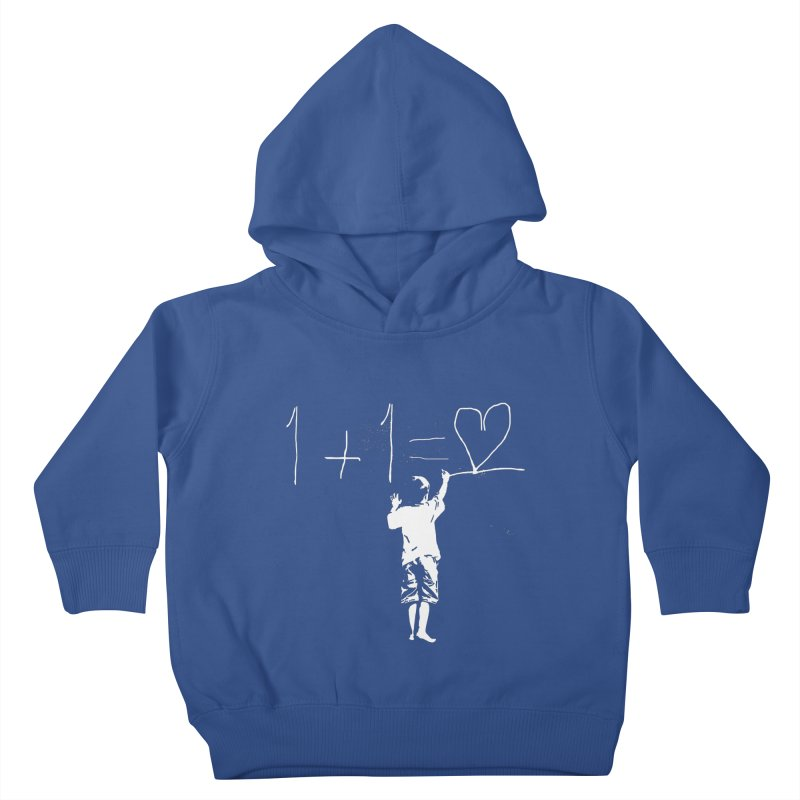 One Plus One Equals Love Kids Toddler Pullover Hoody by Artrocity's Artist Shop