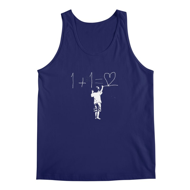 One Plus One Equals Love Men's Regular Tank by Artrocity's Artist Shop