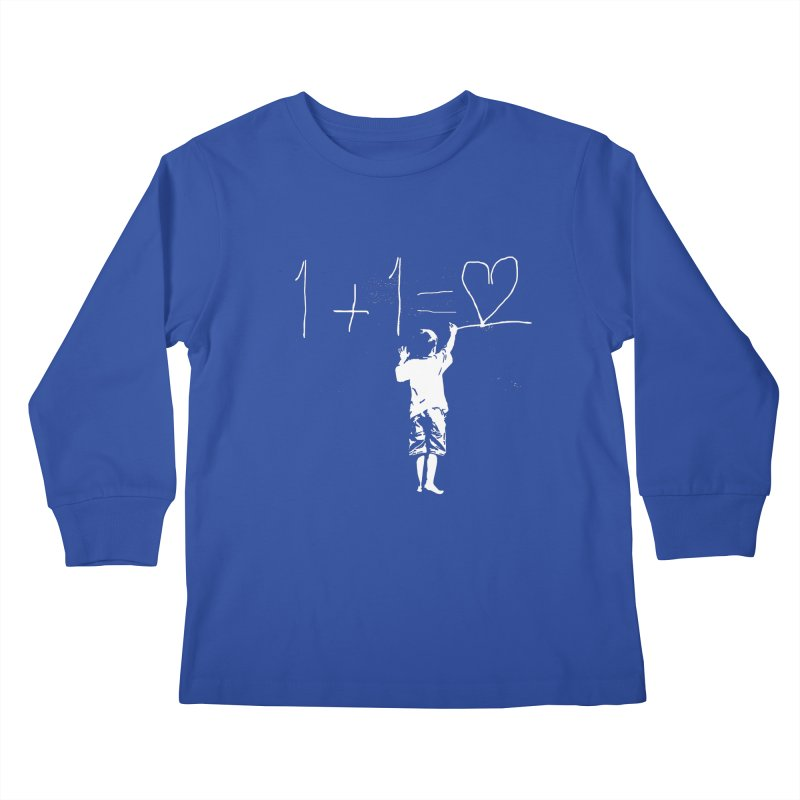 One Plus One Equals Love Kids Longsleeve T-Shirt by Artrocity's Artist Shop