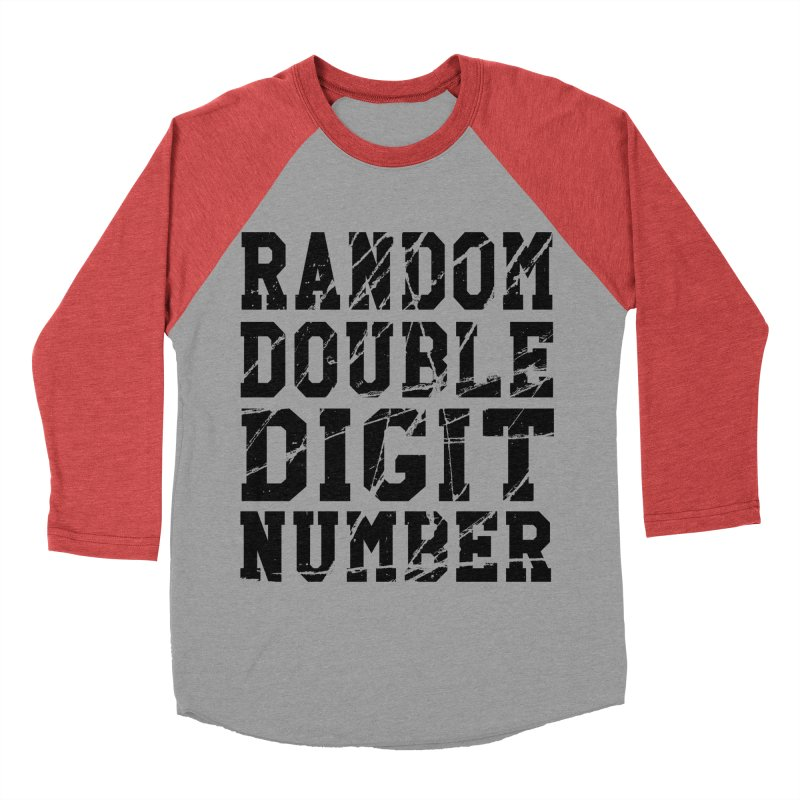 Random Double Digit Number Men's Baseball Triblend Longsleeve T-Shirt by Artrocity's Artist Shop