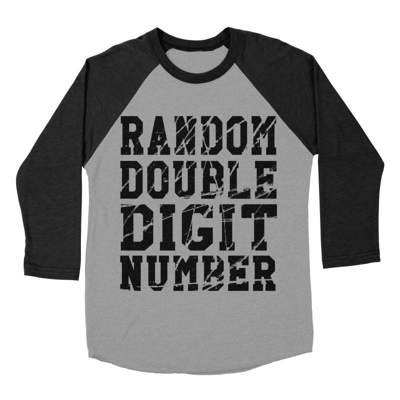 Random Double Digit Number Men's Baseball Triblend T-Shirt by Artrocity's Artist Shop