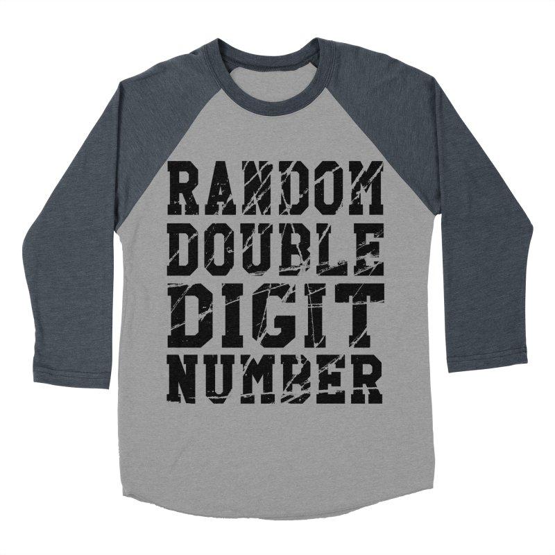 Random Double Digit Number Men's Baseball Triblend Longsleeve T-Shirt by Artrocity's Artist Shop