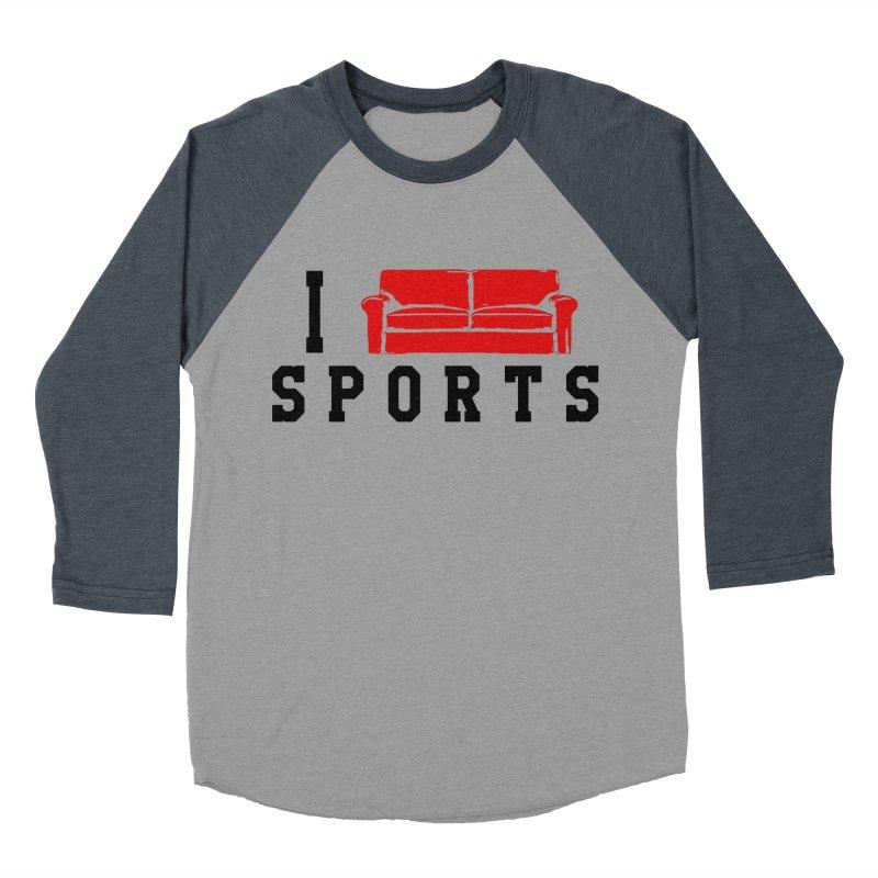 I Couch Sports Women's Baseball Triblend Longsleeve T-Shirt by Artrocity's Artist Shop