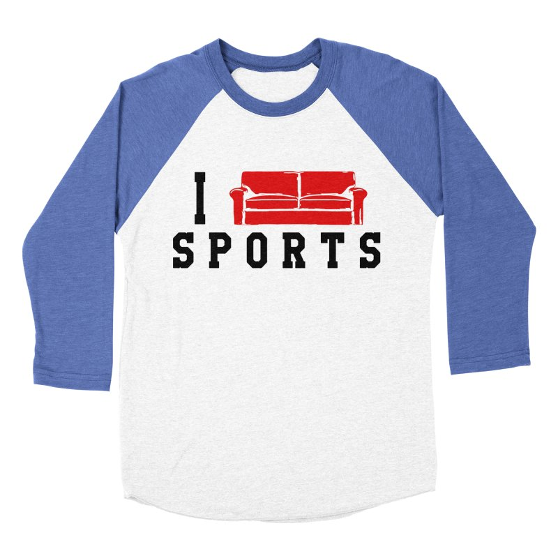 I Couch Sports Men's Baseball Triblend T-Shirt by Artrocity's Artist Shop
