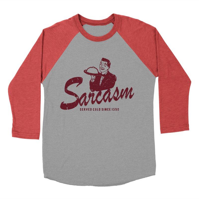 Sarcasm Men's Baseball Triblend Longsleeve T-Shirt by Artrocity's Artist Shop