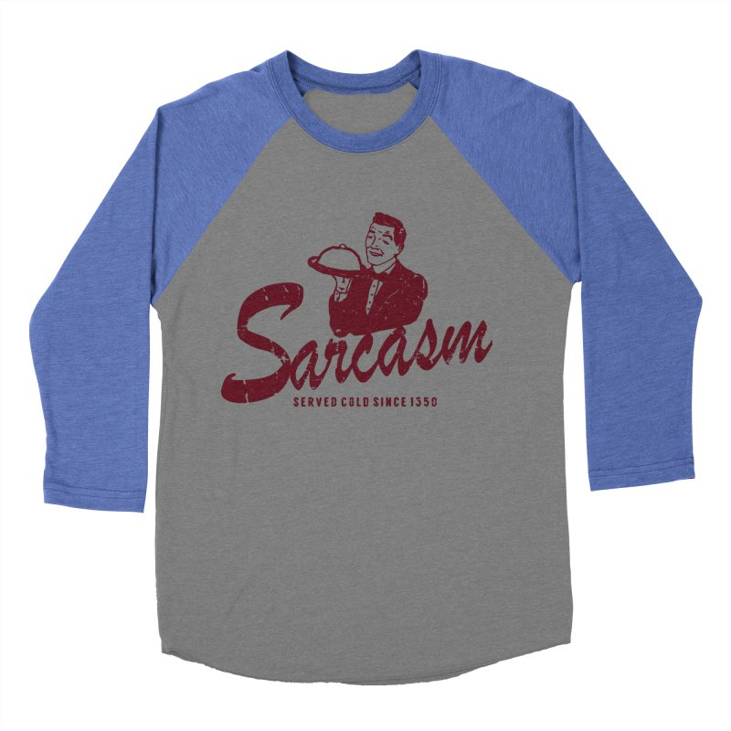 Sarcasm Men's Baseball Triblend T-Shirt by Artrocity's Artist Shop