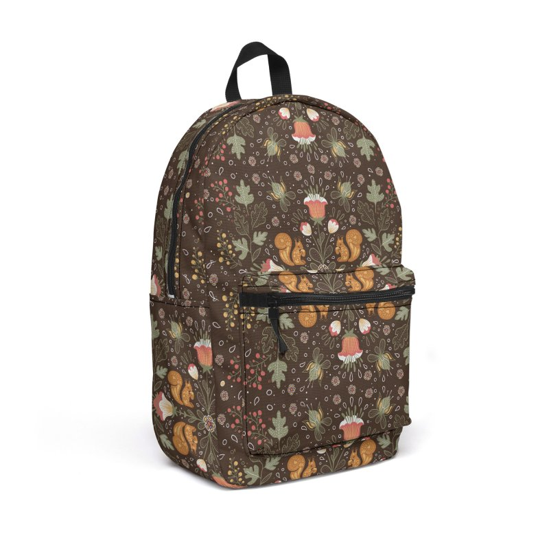 Autumn Squirrel Pattern in Backpack by Art Side of Life's Shop