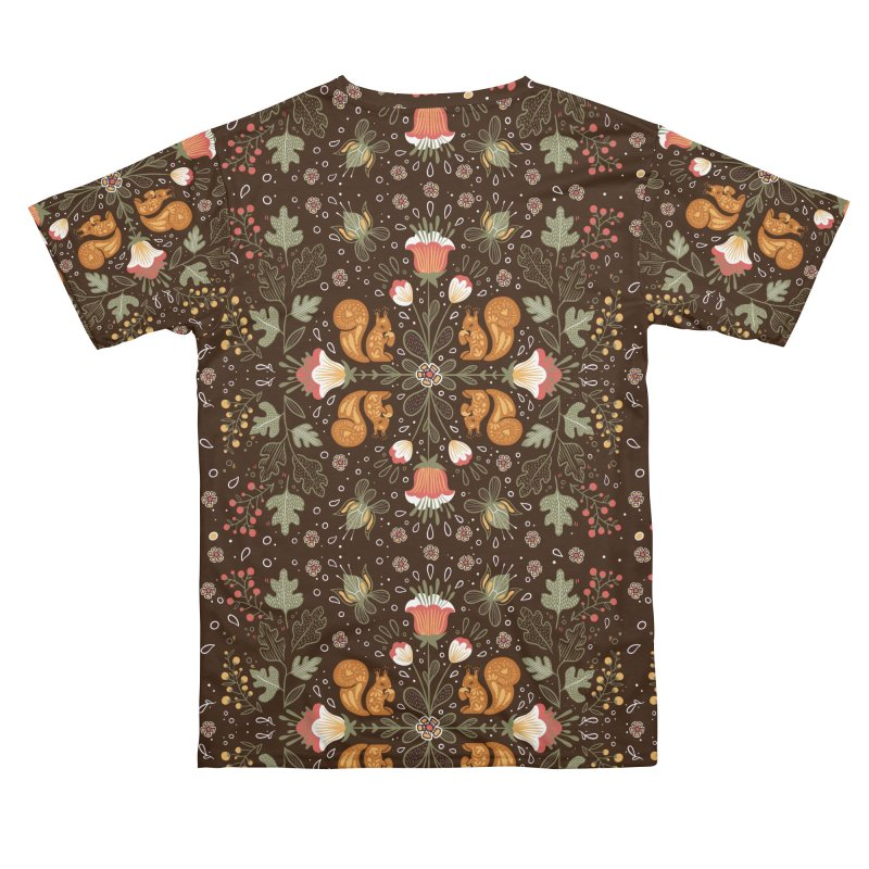 Autumn Squirrel Pattern Women's Cut & Sew by Art Side of Life's Shop