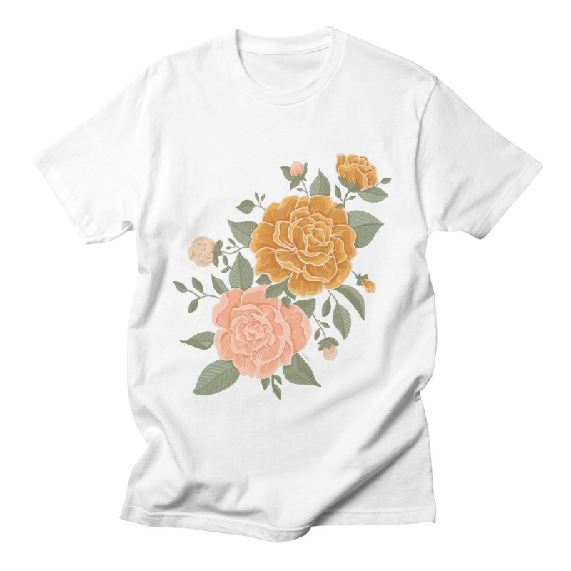 Rose Peony Men's T-Shirt by Art Side of Life's Shop