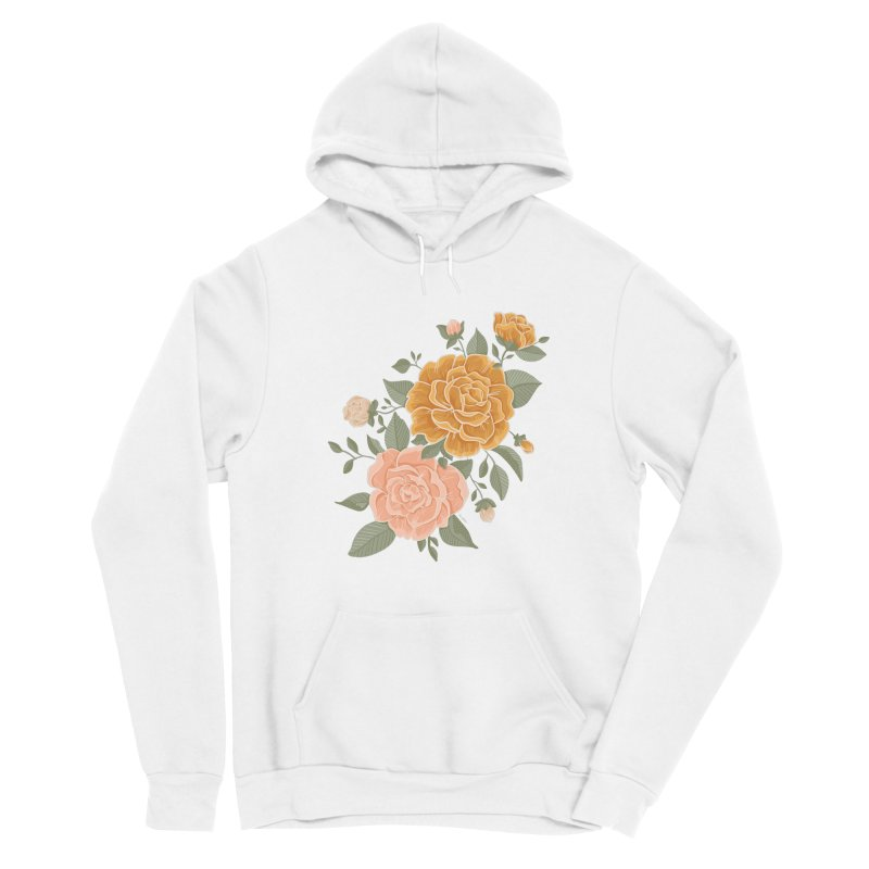 Rose Peony Men's Pullover Hoody by Art Side of Life's Shop