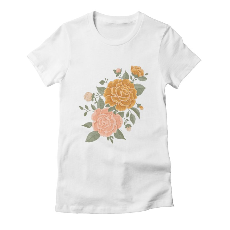Rose Peony Women's T-Shirt by Art Side of Life's Shop