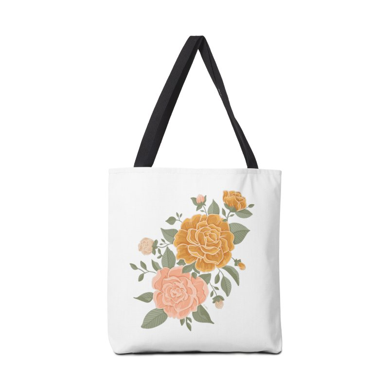Rose Peony Accessories Bag by Art Side of Life's Shop