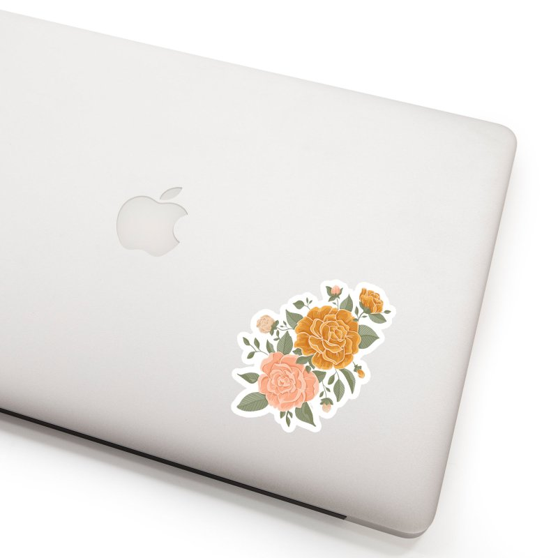 Rose Peony Accessories Sticker by Art Side of Life's Shop