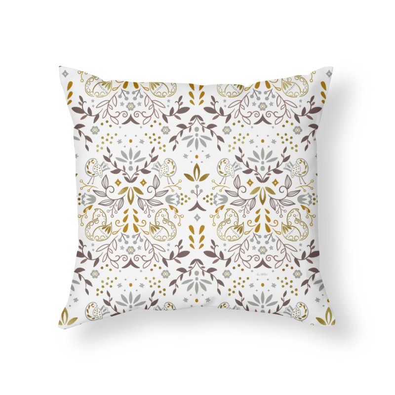 Fox Pattern Home Throw Pillow by Art Side of Life's Shop