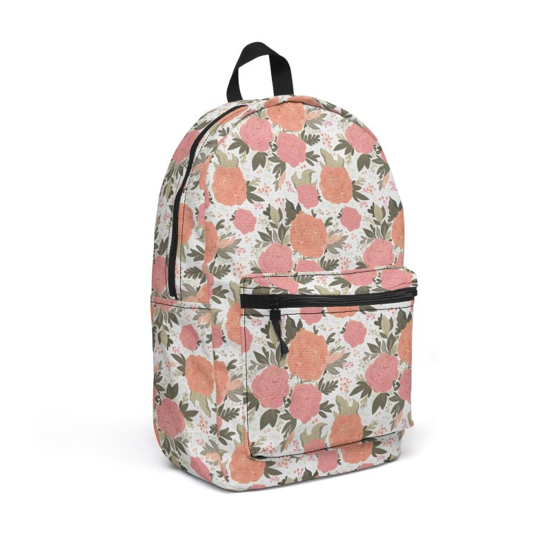 Pink Peony Pattern Accessories Bag by Art Side of Life's Shop