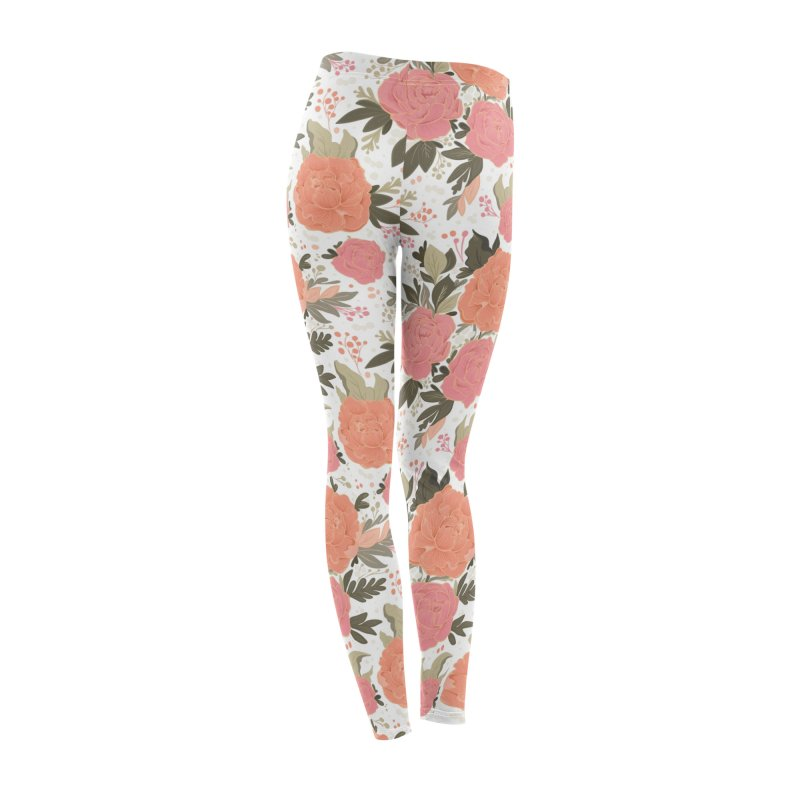 Pink Peony Pattern Women's Bottoms by Art Side of Life's Shop