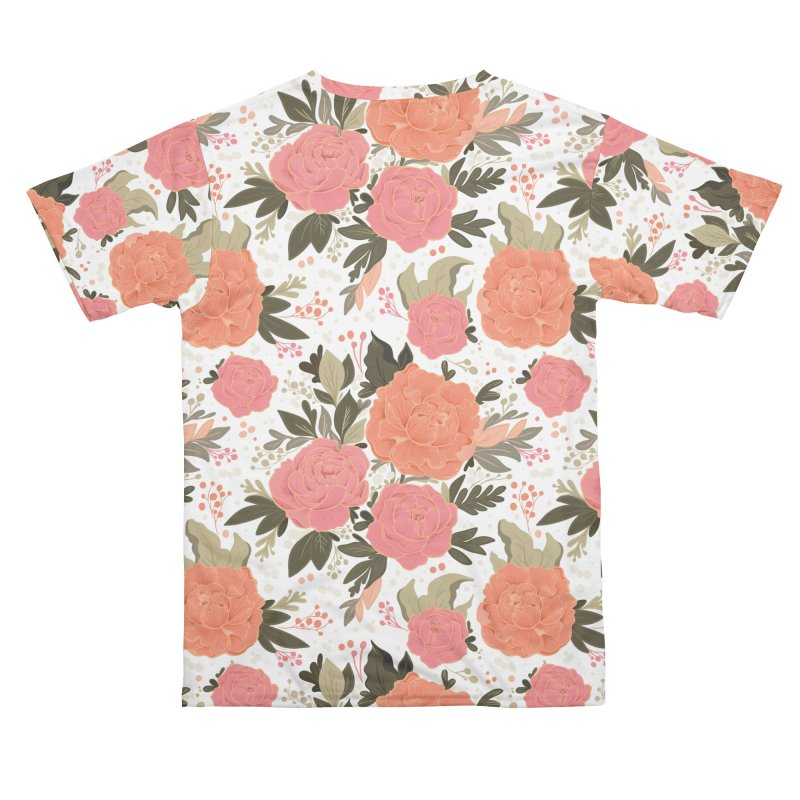 Pink Peony Pattern Men's Cut & Sew by Art Side of Life's Shop