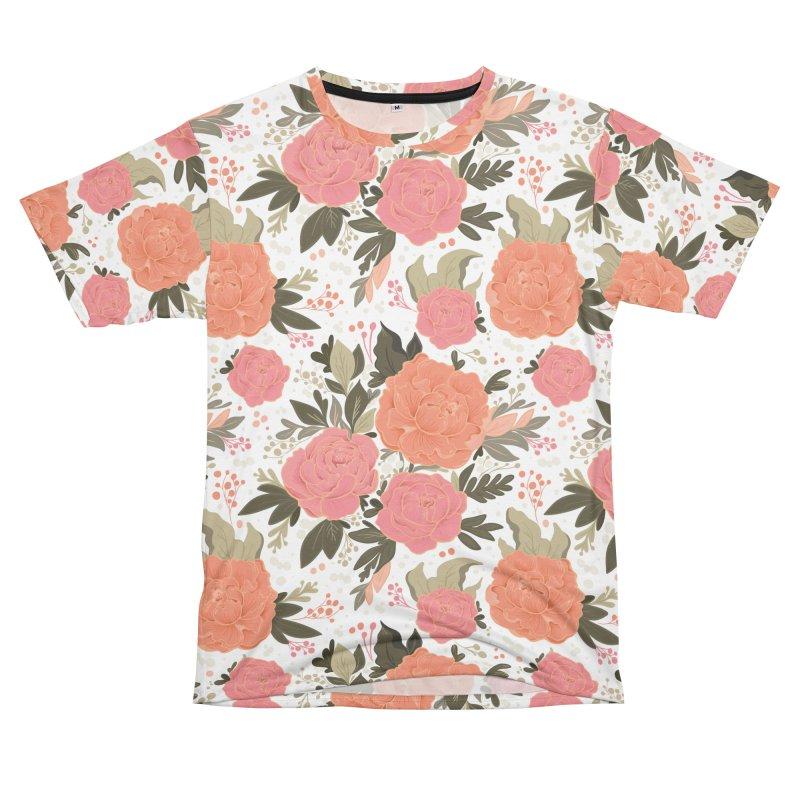 Pink Peony Pattern Women's Cut & Sew by Art Side of Life's Shop