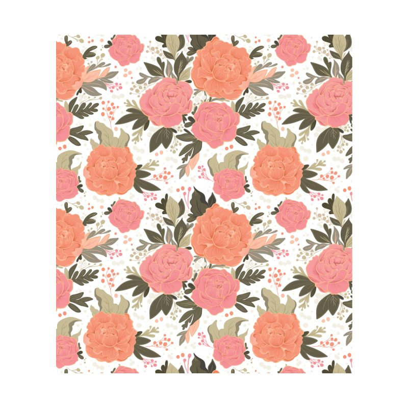 Pink Peony Pattern Home Bath Mat by Art Side of Life's Shop