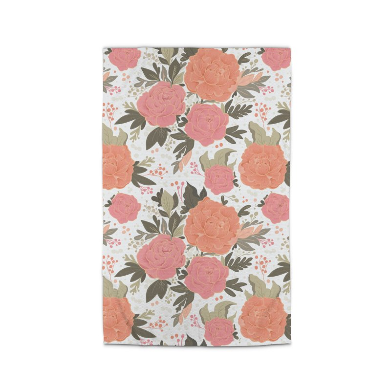 Pink Peony Pattern Home Rug by Art Side of Life's Shop