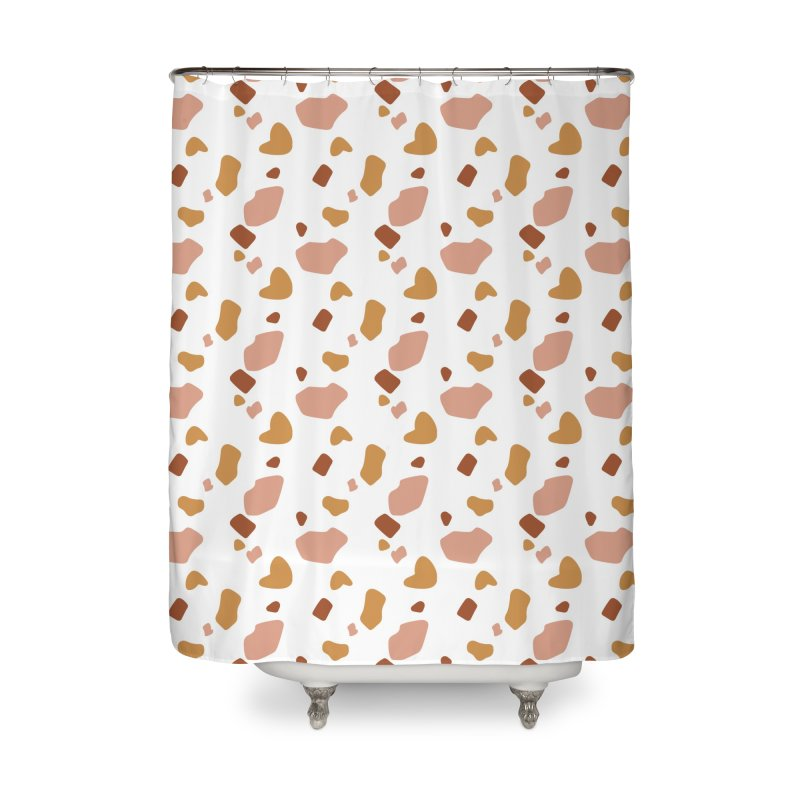 Rocky Path Pattern Home Shower Curtain by Art Side of Life's Shop