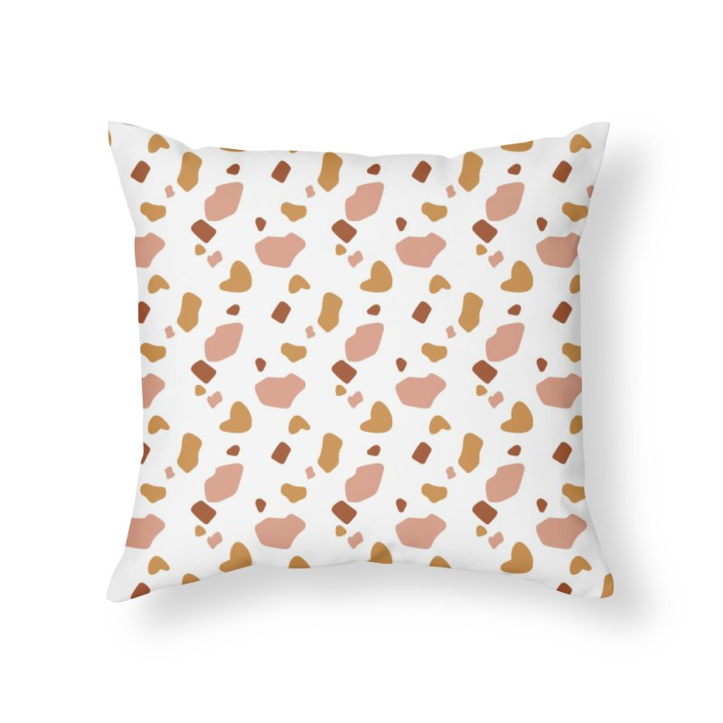 Rocky Path Pattern Home Throw Pillow by Art Side of Life's Shop