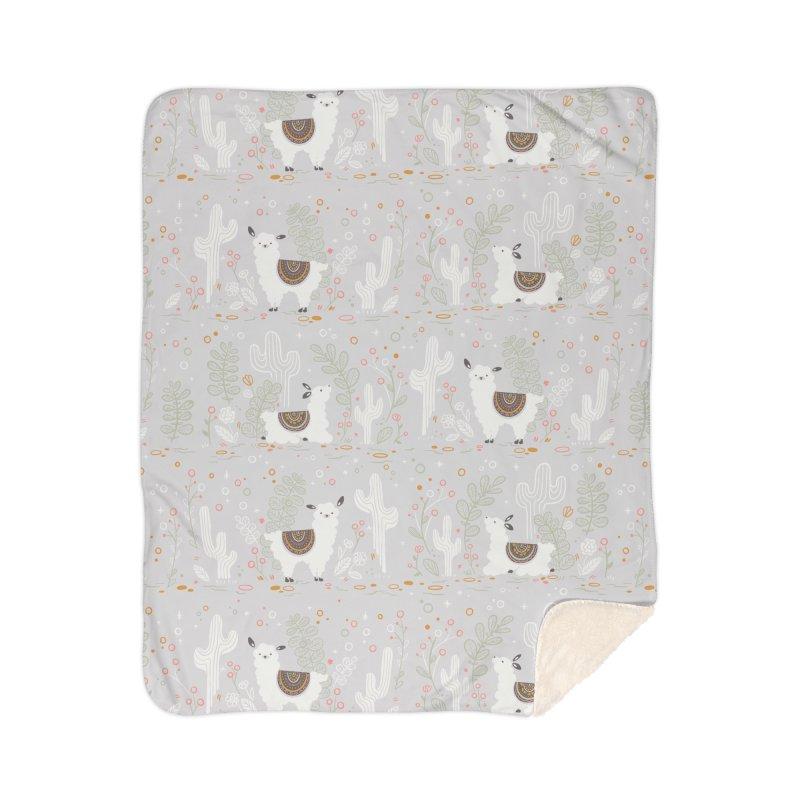 Lama Pattern Home Blanket by Art Side of Life's Shop