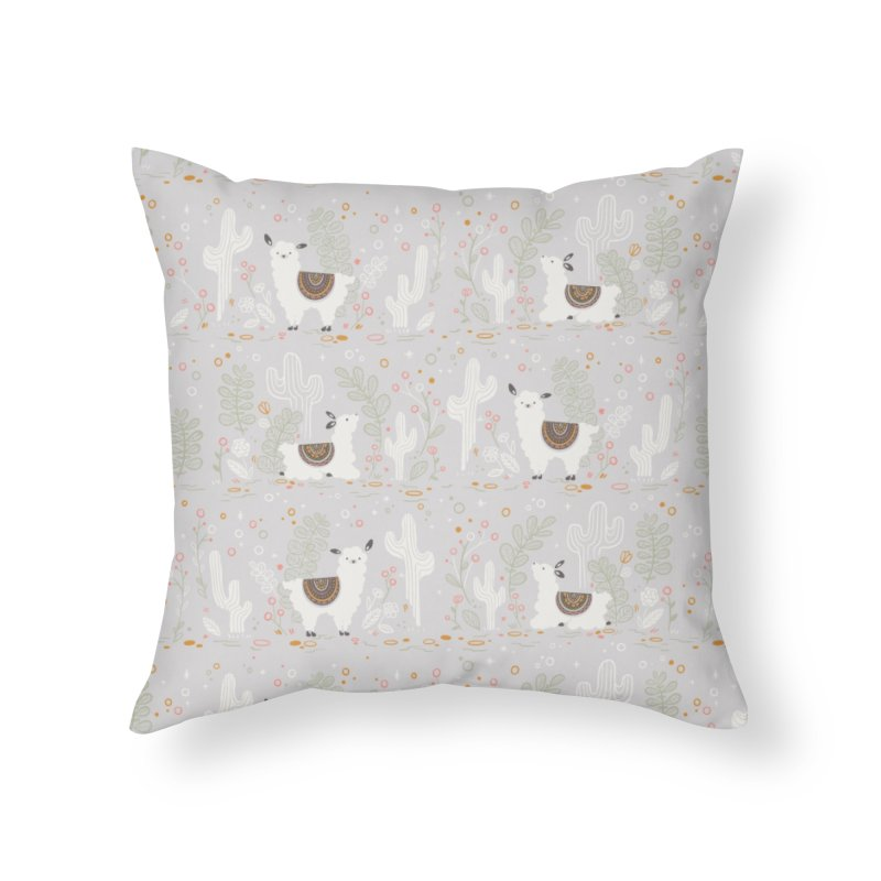 Lama Pattern Home Throw Pillow by Art Side of Life's Shop