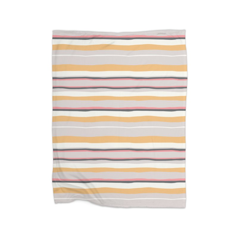 Autumn Stripes Pattern Home Blanket by Art Side of Life's Shop