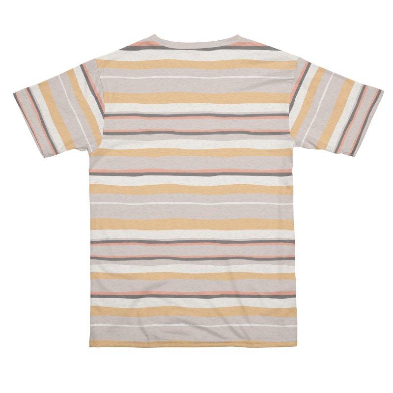 Autumn Stripes Pattern Men's Cut & Sew by Art Side of Life's Shop