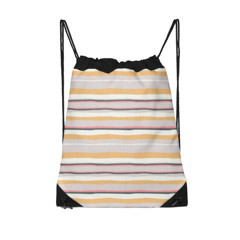 Autumn Stripes Pattern Accessories Bag by Art Side of Life's Shop