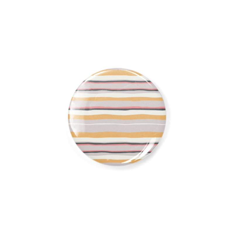 Autumn Stripes Pattern Accessories Button by Art Side of Life's Shop