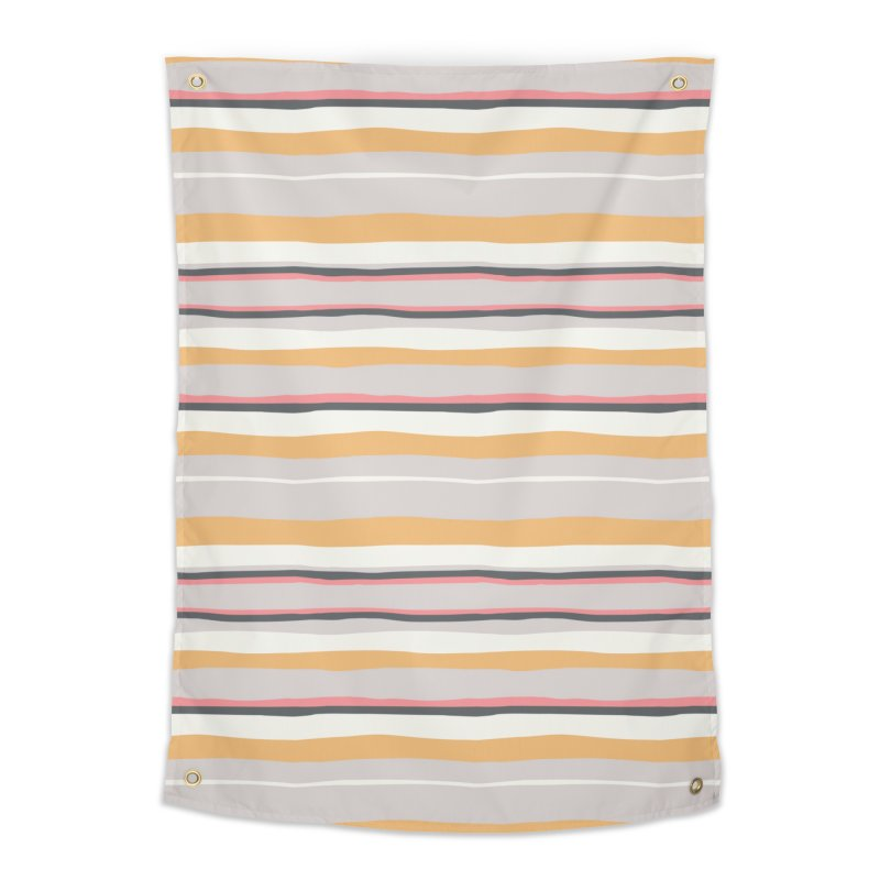 Autumn Stripes Pattern Home Tapestry by Art Side of Life's Shop