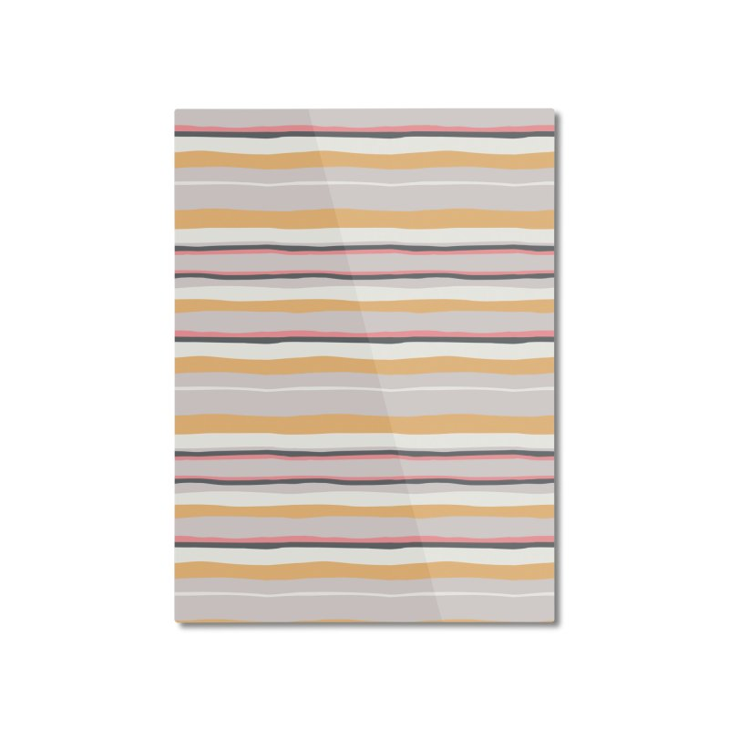 Autumn Stripes Pattern Home Mounted Aluminum Print by Art Side of Life's Shop