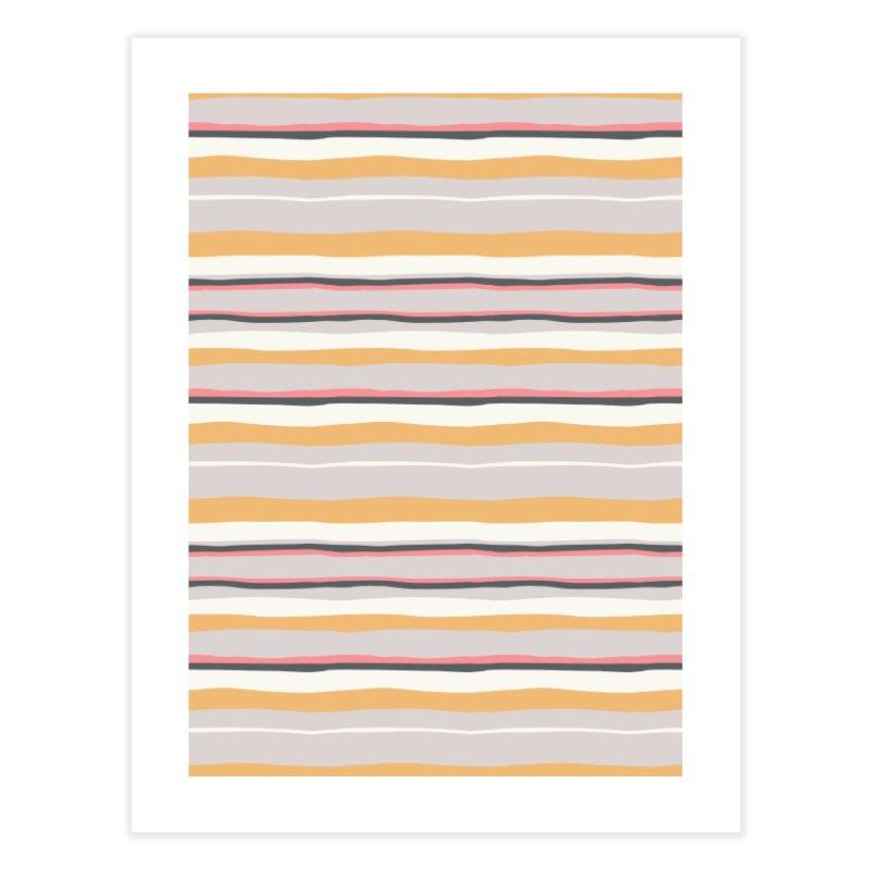 Autumn Stripes Pattern Home Fine Art Print by Art Side of Life's Shop
