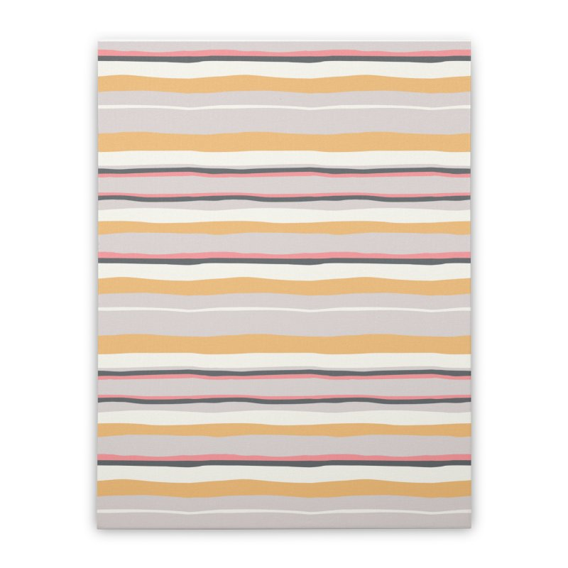 Autumn Stripes Pattern Home Stretched Canvas by Art Side of Life's Shop