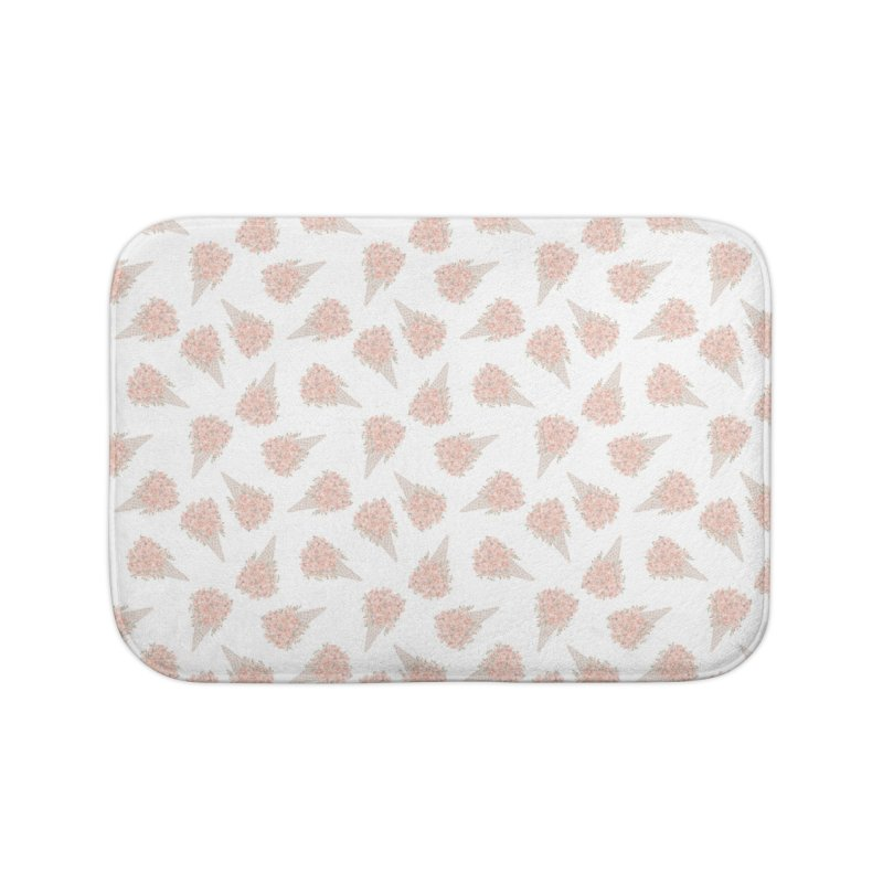 Floral Icecream Home Bath Mat by Art Side of Life's Shop