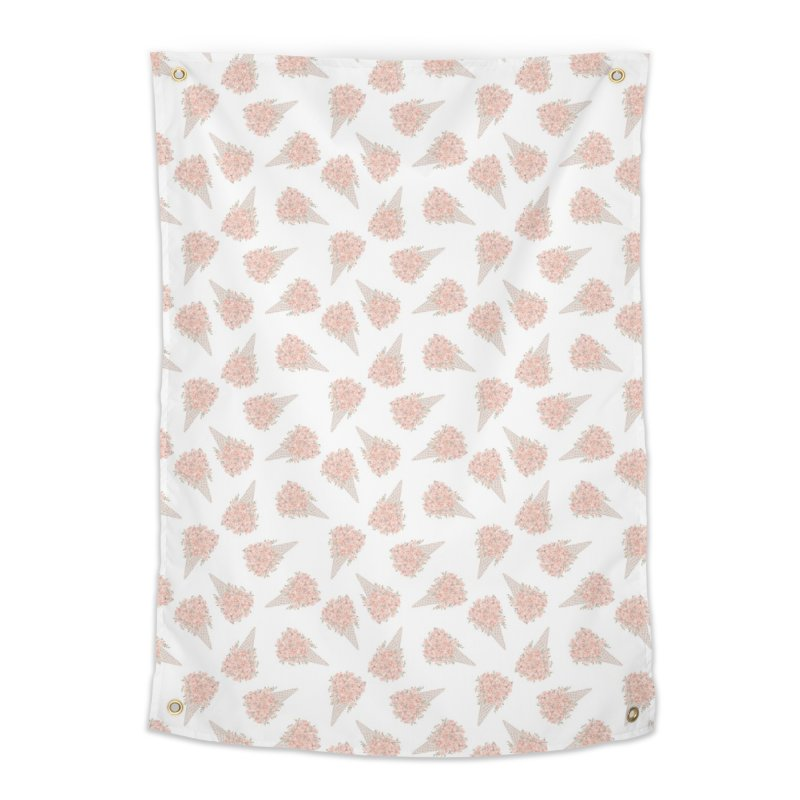 Floral Icecream Home Tapestry by Art Side of Life's Shop