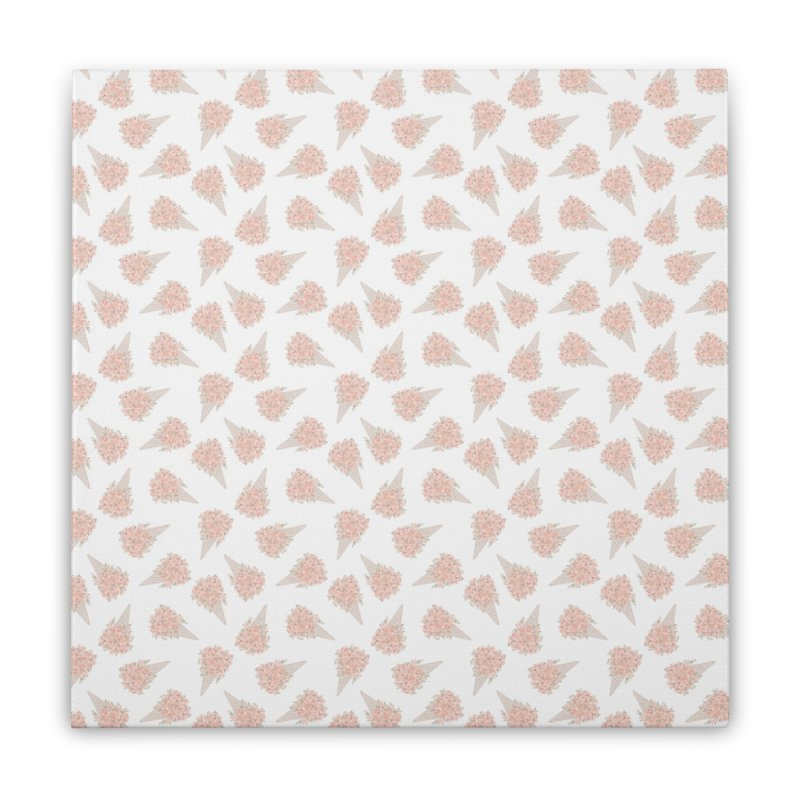 Floral Icecream Home Stretched Canvas by Art Side of Life's Shop