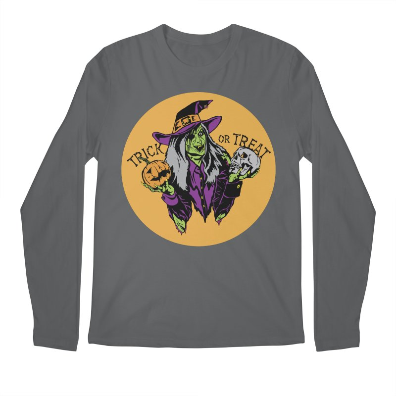 Trick or Treat Men's Regular Longsleeve T-Shirt by ArtSkull's Threadless Shop